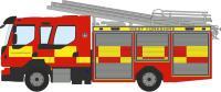 Oxford Diecast 76VEO001 Volvo FL Emergency One Pump Ladder West Yorkshire