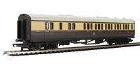 Hornby R4524 Collett brake third 5121 in GWR chocolate and cream - Railroad Range