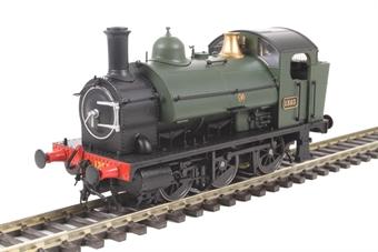 1301 Class 1361 0-6-0ST 1363 in GWR green with shirtbutton emblem
