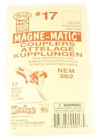 17KADEE NEM362 Kadee coupling - Short (7.11mm) - Pack of four
