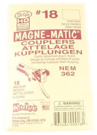 18KADEE NEM362 Kadee coupling - Medium (8.63mm) - Pack of four