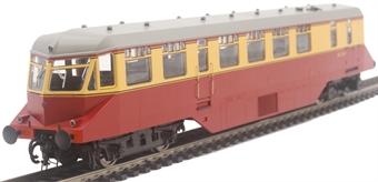 19402 GWR AEC diesel railcar W21W in BR crimson and cream with grey roof