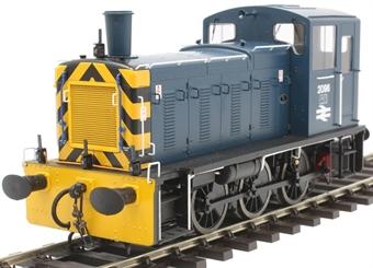 2070 Class 03 shunter 2096 in BR blue with 'flowerpot' exhaust