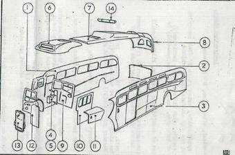 232 Bristol LL6B/Duple Royal Blue 1950's coach