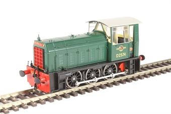 2500 Class 05 Hunslet shunter D2574 in BR green