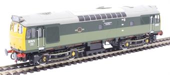"""2539 Class 25/3 D7672 """"Tamworth Castle"""" in BR two tone green - 1990s railtour condition"""