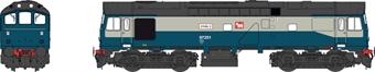 2545 Class 25 ETHEL train heating unit ADB97251 in BR blue and grey
