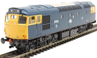 2717 Class 27 27033 in BR blue with Haymarket depot emblem