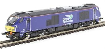 2D-022-010 Class 68 68026 in Direct Rail Services plain blue