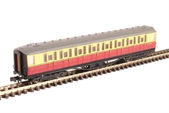 2P-011-055 ex-LNER Gresley teak second E12621E in BR carmine and cream