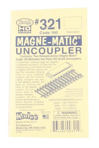 321KADEE Permanent Magnet Delayed Uncoupler (Code 100)