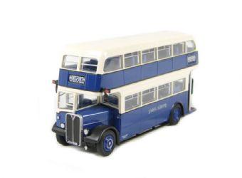 "34203 AEC RLH Weymann d/deck bus in blue & white ""Samuel Ledgard"""