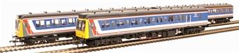 35-502 Class 117 3 car suburban DMU in Network SouthEast livery