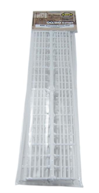 424 Lineside Fencing, white (4 bar)