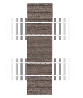 456 Wooden station barrow crossing - plastic kit