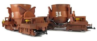 49560 2x Molten Metal wagons. Epoch IV