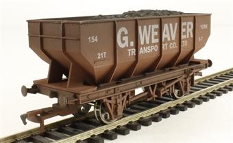 4F-034-016 21 Ton Hopper G Weaver - weathered
