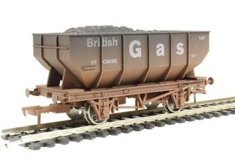 "4F-034-103 21 Ton hopper wagon ""British Gas #147"" - weathered"