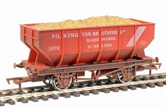 "4F-034-111 21-ton hopper - ""Pilkington Brothers, St Helens"" - weathered"