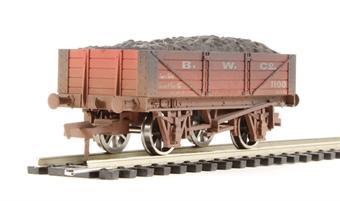 "4F-040-002 4 plank wagon ""B W Co"" - weathered"