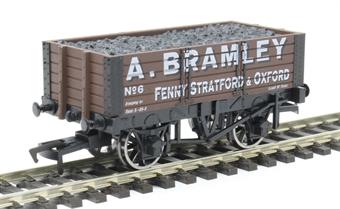 """4F-052-013 5 plank open wagon - """"A Bramley, Oxford"""""""