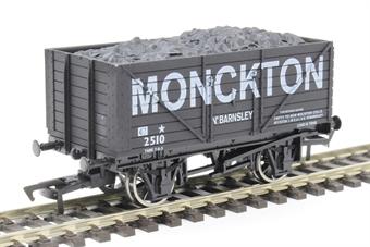 "4F-080-118 8 plank open wagon - ""Monckton Colliery, Barnsley"""