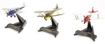 72TM004 De Havilland Tiger Moth Glasmoth (Set of 3)