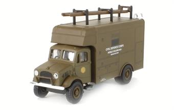 76BD019 Bedford OY Van Civil Defence