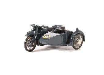76BSA008 Motorbike/Sidecar RAF Blue