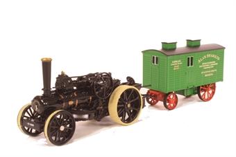 "76FBB002 Fowler BB1 Plough Engine No15222 Bristol Rover with Living Wagon ""Dorset"""