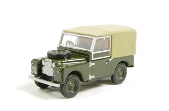 "76LAN188009 Land Rover 88"" Canvas in bronze green"