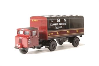 76MH019 Scammell Mechanical Horse Van Trailer - LMS
