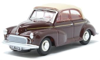 76MMC006 Morris Minor Convertible Maroon B/Tan