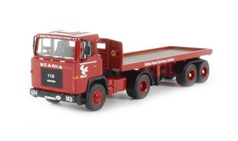 76SC110002 Scania 110 Flatbed Trailer 'BRS'