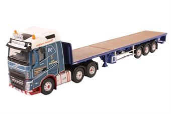 76VOL4005 Volvo FH4 (G) Flatbed Trailer P McKerral & Co Ltd
