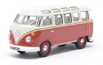 76VWS001 VW T1 Samba Bus Sealing Wax Red/Beige Grey