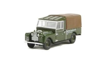 "76LAN1109005 Land Rover Series 1 109"" Canvas in green British Railways livery"