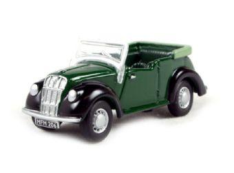 76ME002 Morris Eight tourer in green & black