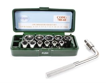 78060 13Pc Miniature Socket Set