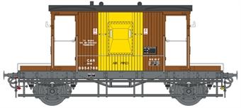 7F-200-012 20 ton standard brake van in BR bauxite and yellow - B954768