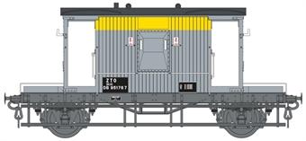 7F-200-014 20 ton standard ZTO brake van in Civil Engineers 'Dutch' grey and yellow - DB951767