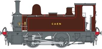 "7S-018-002 LSWR Class B4 0-4-0T 90 ""Caen"" in Southampton Docks brown"