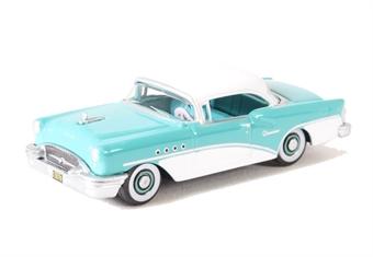 87BC55001 Buick Century 1955 Turquoise/Polo White