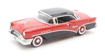 87BC55006 Buick Century 1955 Carlsbad Black/Cherokee Red