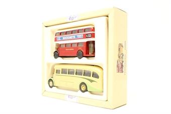 97071-PO10 The Devon Bus Set - 2 x AEC Buses - Pre-owned - Good box