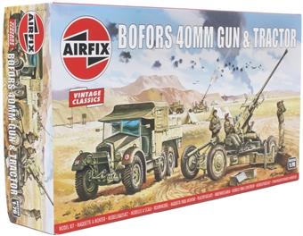 A02314V Bofors anti-aircraft gun and tractor - Airfix Classics range - plastic kit