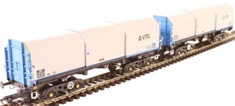 "ACC2128VTG3 JSA bogie covered steel wagon - ""VTG"" - Pack 3 - pack of two"