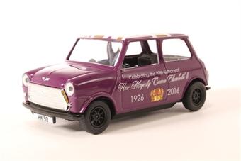 CC82107 The 90th Birthday of HM Queen Elizabeth II – Commemorative Die-Cast Souvenir Austin Mini