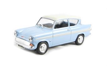 CR025 Ford Anglia 105E Glacier Blue/Ermine White