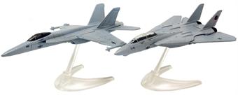 CS90682 Maverick & Goose's F14® Tomcat® (Top Gun, 1986) and Rooster's F/A-18 Hornet™ (Top Gun Maverick, 2020)